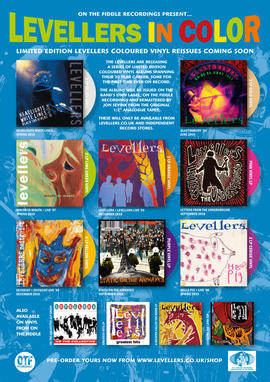 LEVELLERS COLOURED VINYL REISSUES - The Levellers