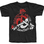TS Levellers Against Racism - Red/White on Black 5XL only