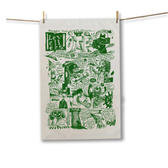 Green Comix Tea Towel