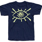 TS Eye - Glow-in-the-dark print on Navy with Levellers backprint