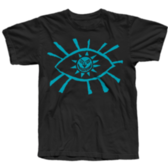 TS Eye - Blue on Black - Small, XL & 2XL only