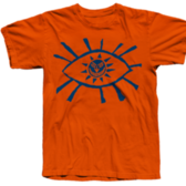 TS Eye - Navy on Orange